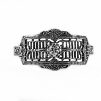 121bbr | Antique Filigree Ring | for a .06ct to .11ct round stone | Floral Band<br>$602