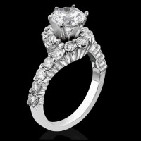 Perfectly Designed Twist and Loop Setting with Endless Diamonds and 6 Secure Prongs<br>$2550
