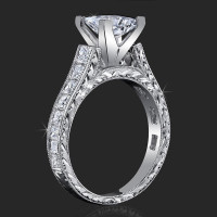 Stacked Diamonds Classical Square Cathedral for Any Size or Any Shape Center Mount<br>$3300