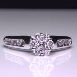 .50 ctw. 14K White Gold Invisible Set Center Engagement Ring<br>$849