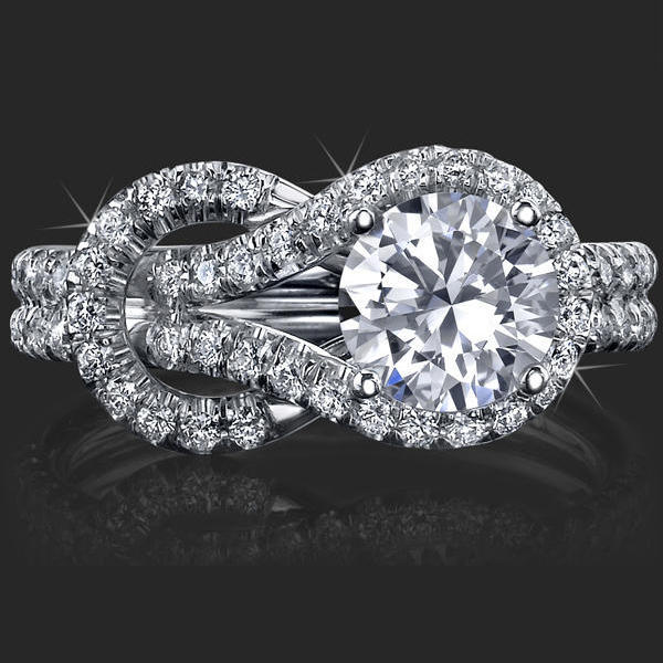 Engagement Rings Knot: Two Loop Interlaced Common Design Discount Love Knot