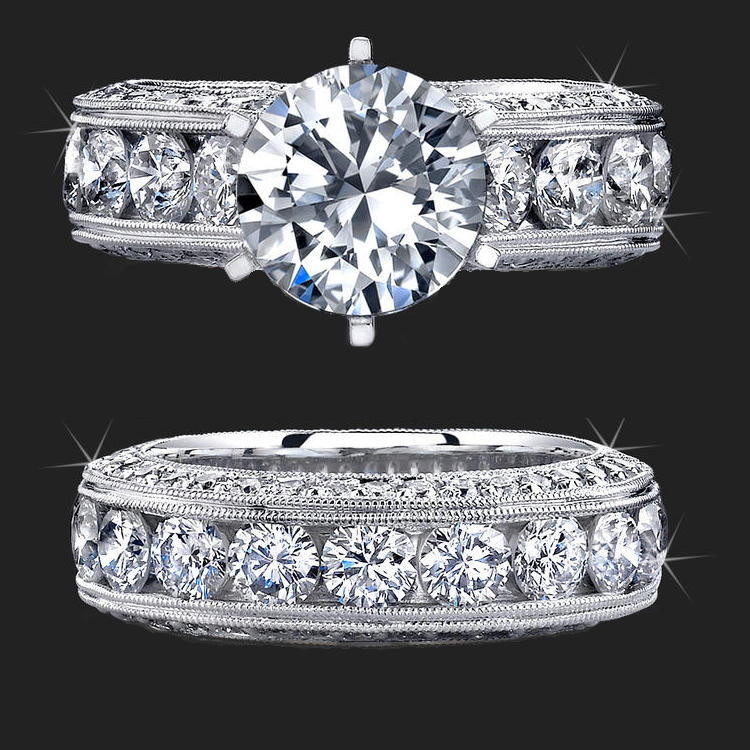 Jewelers And Beyond with More Than 4 Carats of Huge Top Quality Round D