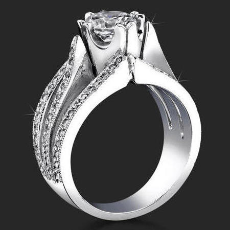 Tension Wedding Ring 79 New Wide engagement rings with