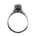 026bbr   Antique Filigree Ring   for a .75ct. to .85ct. round stone   Crown Setting