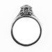 126bbr   Antique Filigree Ring   for a .30ct. to .40ct. round stone   Complex Cathedral