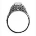 m005bbr | Antique Filigree Ring | for a 1.57ct to 1.67ct marquise stone | Running Scrolls