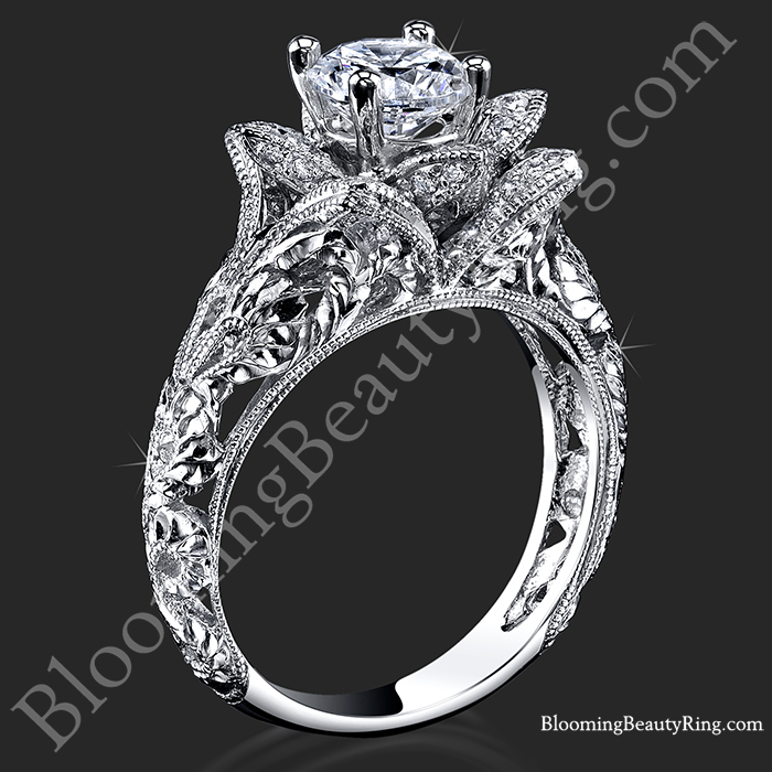 Blooming Flower Diamond Engagement Ring