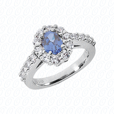 Light Blue Sapphire Engagement Ring