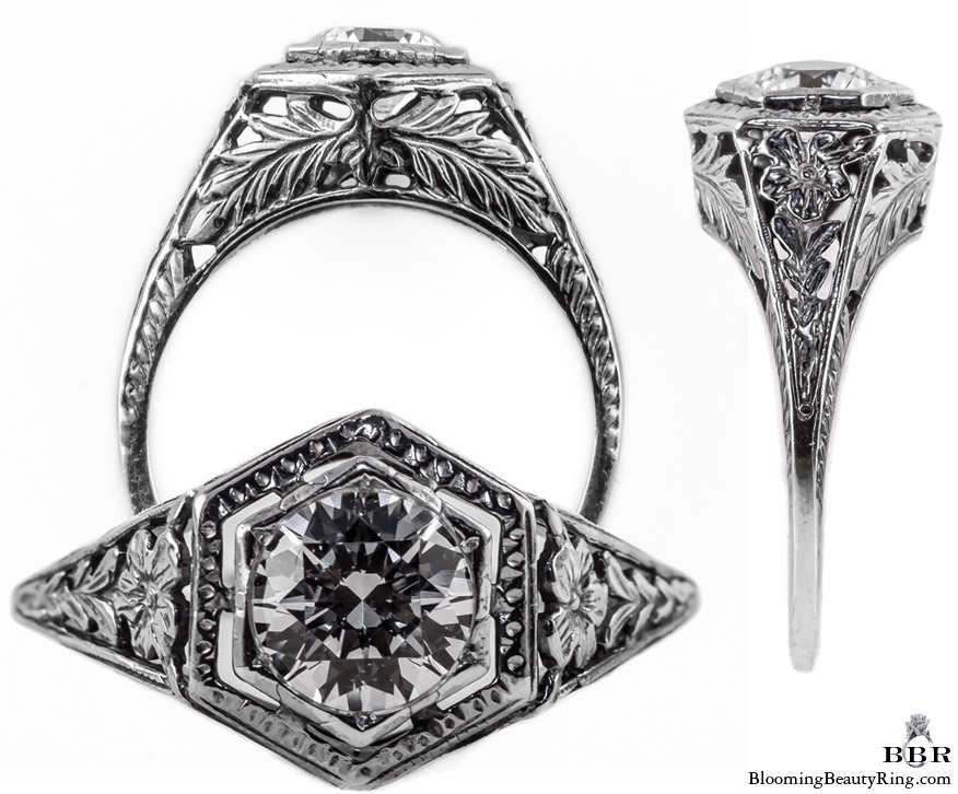 062bbr antique filigree engagement rings