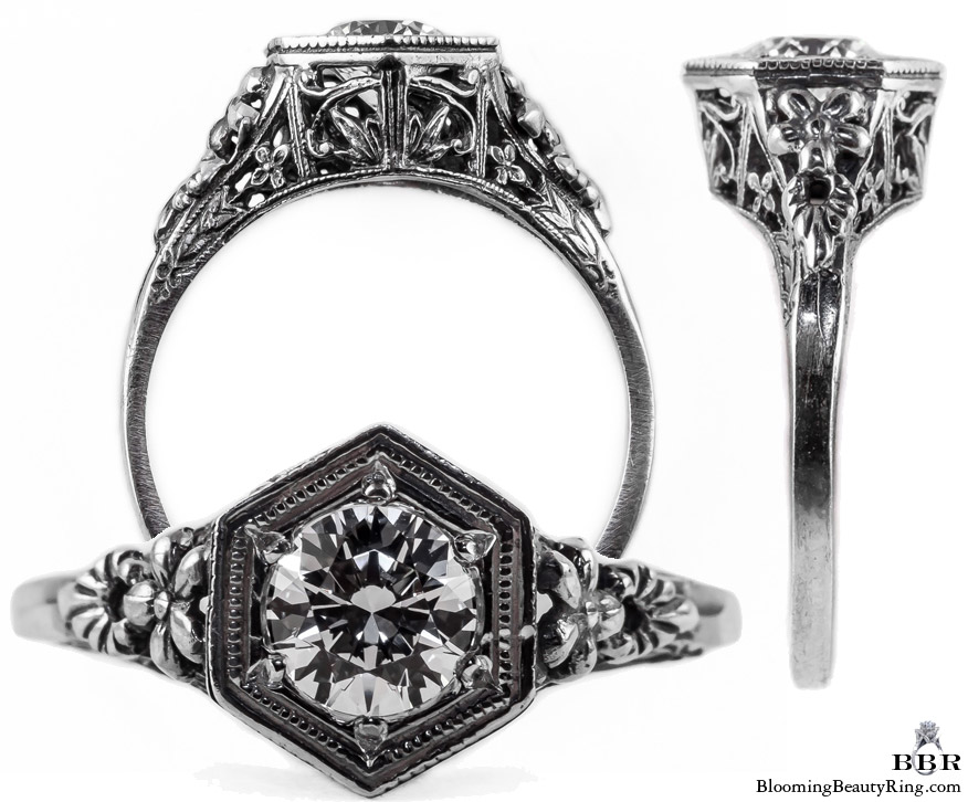 079bbr antique filigree engagement rings