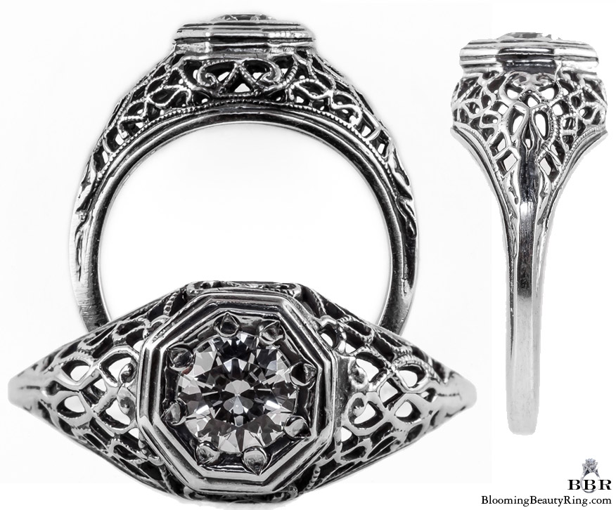 092bbr antique filigree engagement rings