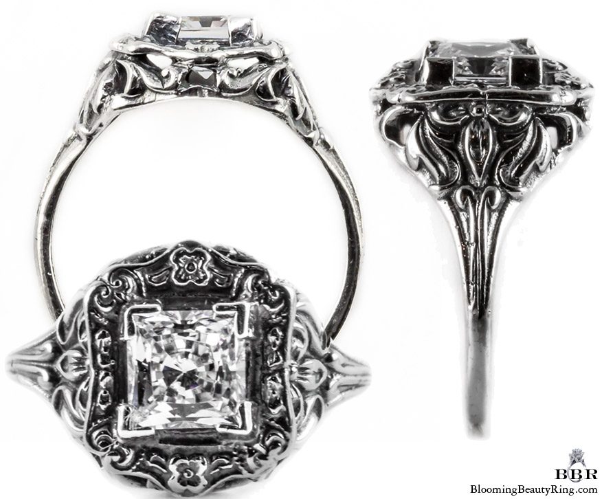 e021bbr antique filigree engagement rings