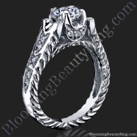 Rope Shank Engagement Ring