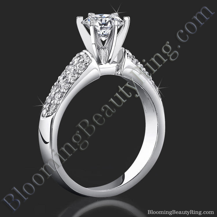 high quality 6 prong modified cathedral engagement setting