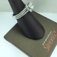 Simon G Fabled Diamond Halo Engagement Ring Set