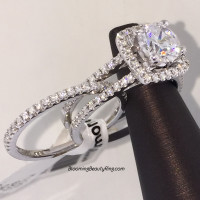 Simon G Fabled Halo Engagement Ring Set