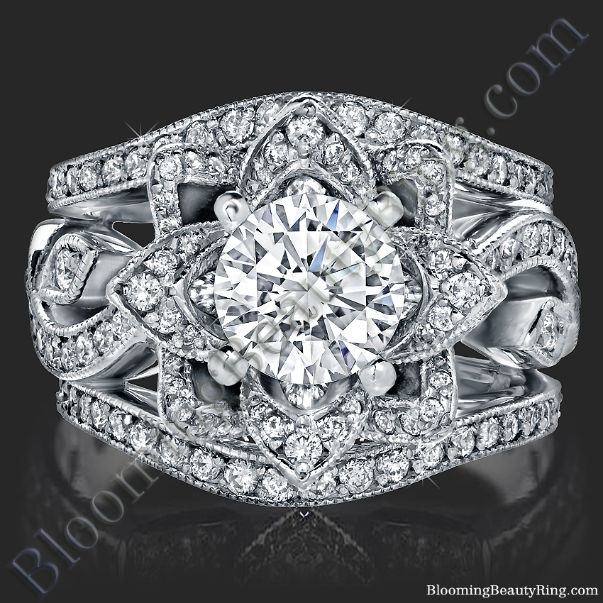 Wedding Ring Set White Gold