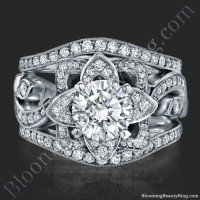 The Original Lotus Swan Double Band Flower Ring