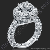 Diamonds and Flowing Lace Engagement Ring 1