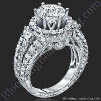 Spellbound - Enchanting Diamond Halo Engagement Ring 1