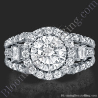Spellbound - Enchanting Diamond Halo Engagement Ring 2