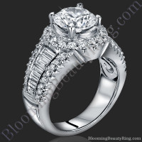 The Majestic Halo Diamond Engagement Ring 1