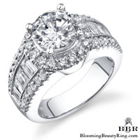 The Majestic Halo Diamond Engagement Ring 3