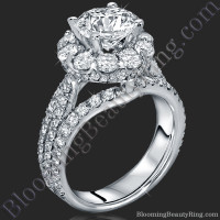 The Rising Diamond - Split Halo - Engagement Ring 1