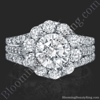 The Rising Diamond - Split Halo - Engagement Ring 2
