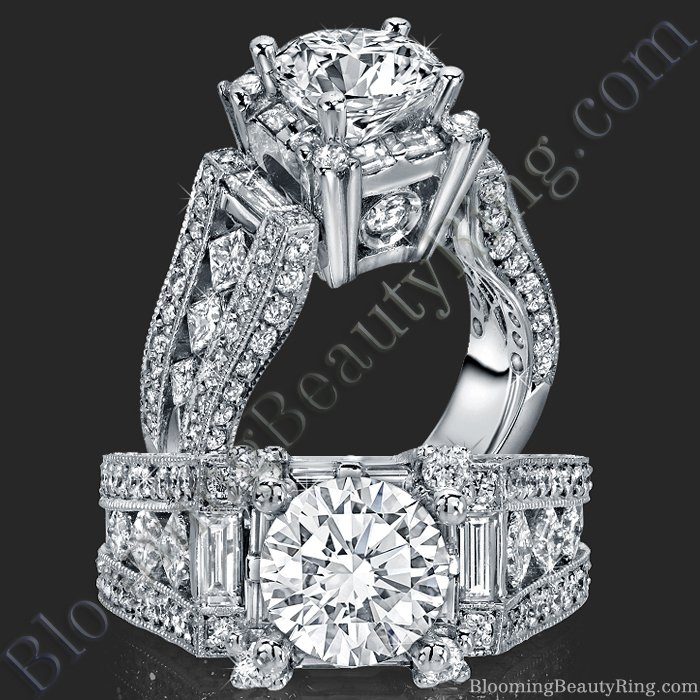 The Royal Throne Diamond Engagement Ring - bbr214-1