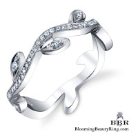 Lotus Flower Wedding Band from an Upper Angle