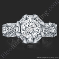 She Will Say Yes! Unique Round Diamond Engagement Ring - 2