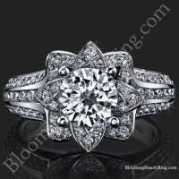 Original Small Blooming Beauty Flower Ring Set 3