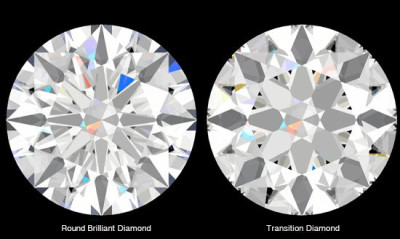 Transitional Cut Diamond versus a Round Brilliant