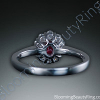 .60 ctw. Fine Oval Ruby and Diamond Ring - 3