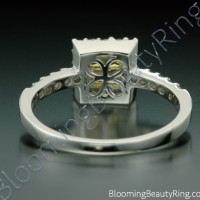 .69 ctw. Invisible Set 4 Yellow Sapphire Diamond Ring - 3
