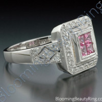 .65 ctw. Invisible Set Pink Sapphire and Diamond Ring - 3