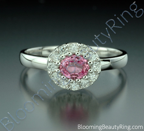 .60 ctw. Pink Sapphire and Diamond Raised Ring - cgrRG197