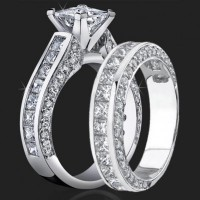 Jewelers Impressive Princess Cut Engagement Rings with Well Over 3 Carats of Diamonds<br>$5999