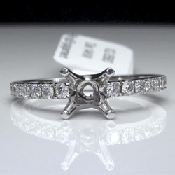 .39 ctw. Round Diamond Engagement Ring Setting / Semi-Mount<br>$899
