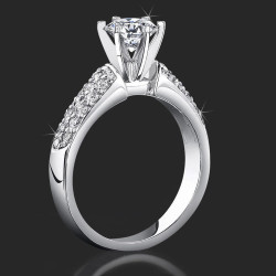 Cheap Price High Quality 6 Prong Modified Cathedral Engagement Setting<br> $1830