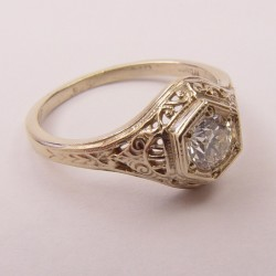 Antique Vintage Style Filigree Engagement Rings