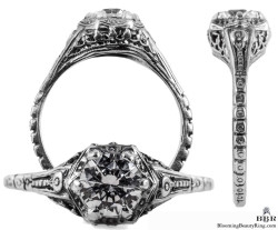071bbr antique filigree engagement rings