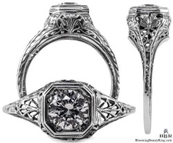 093bbr antique filigree engagement rings