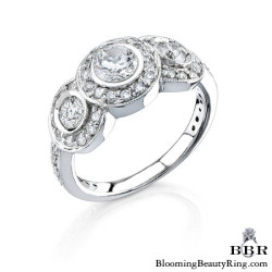 1.0 ctw. 14K Gold Diamond Engagement Ring - nrd1043