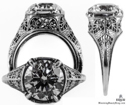 110bbr vintage filigree rings