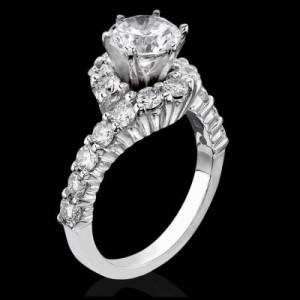 Perfectly Designed Twist and Loop Setting with Endless Diamonds and 6 Secure Prongs – bbr387
