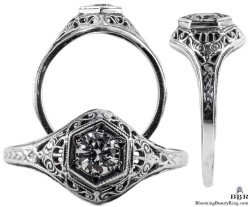 128bbr vintage filigree rings