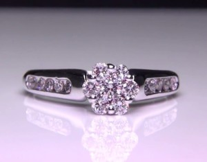 .50 ctw. 14K White Gold Invisible Set Center Engagement Ring