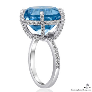 17.35 ctw. Blue Topaz and Diamond Ring – jtr180